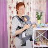 Слинг-рюкзак TOPA-TOP Toddler Silver Leaves