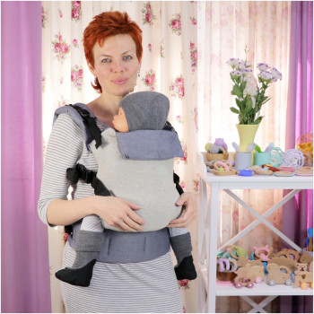 Слинг-рюкзак TOPA-TOP Toddler Grey with Silver