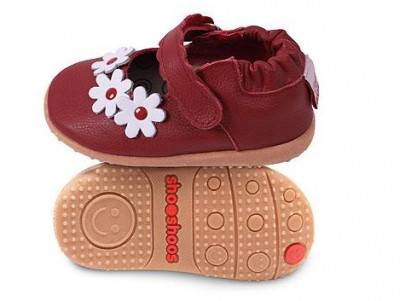 Туфли из натуральной кожи  SMY5 Red / F red / flower SHOOSHOOS (размер 8,красный)