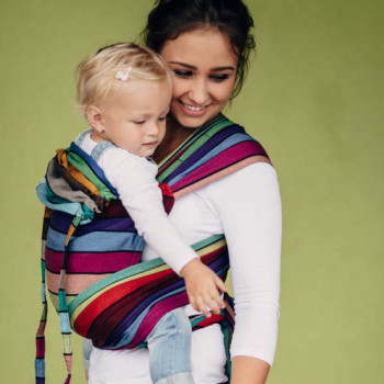 Май-слинг LENNYLAMB Wrap-Tai Carrier Mini Carousel of Colors