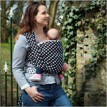 Слинг-шарф YARO SLINGS Polka Dot Contra Black White (3,6 м)
