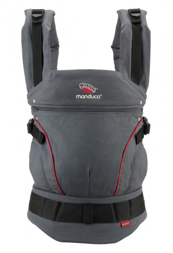 Слинг-рюкзак MANDUCA First HempCotton Grey-Red