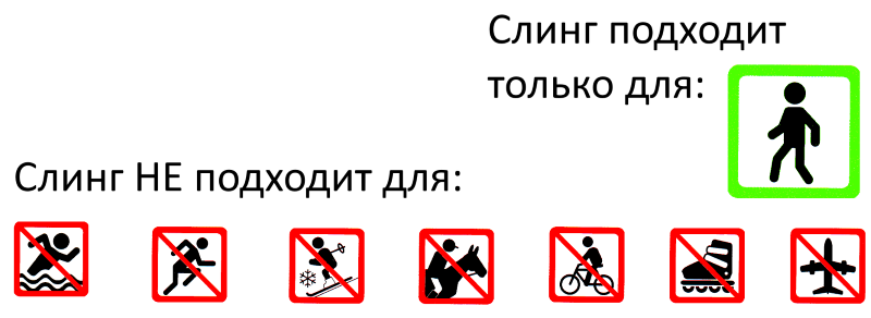 техника безопасности в слинге