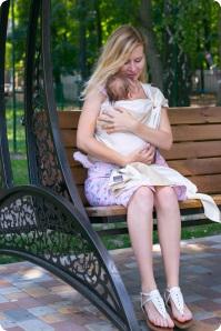 слинг-шарф для новорождённого