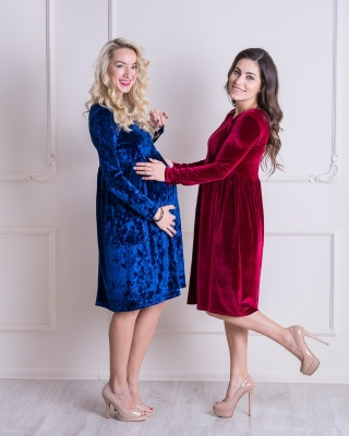 Нарядное платье для кормящих мам