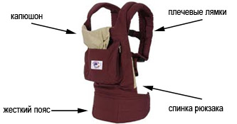 слинг-рюкзак анатомия