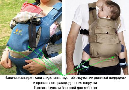 размер эргономического рюкзака