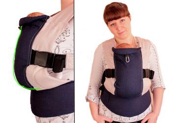 ширина спинки эргономического рюкзака